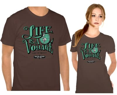 healthy voyager tshirt life is a voyage live it well