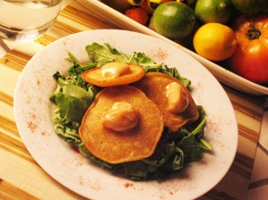 Healthy, Gluten Free and Vegan Corn Fritters with Chipotle Sauce Recipe