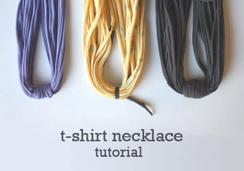 How To Make A Layered Necklace Out Of An Unwanted T Shirt