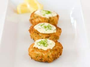 Classic Crab Cakes and Lemon Dill Dipping Sauce Vegan Recipe