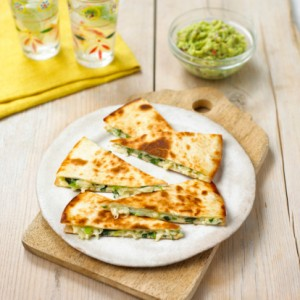 Vegan and Gluten Free Avocado Pesto Quesadilla Recipe