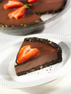Raw, Vegan and Gluten Free No-Bake Chocolate Pie Recipe