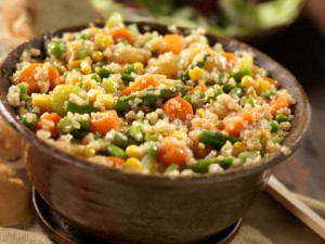 Vegan and Gluten Free Quinoa Vegetable Fried Rice Recipe