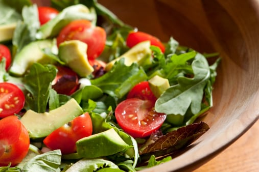 Vegan and Gluten Free Basily Tomato Avocado Salad Recipe