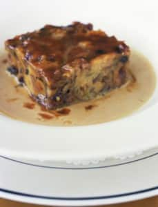 Vegan Peanut Brittle Bread Pudding Recipe