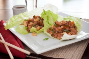Vegan and Gluten Free Asian Tofu Lettuce Wraps Recipe