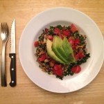 Massaged Kale Salad With Garlic Dijon Quinoa