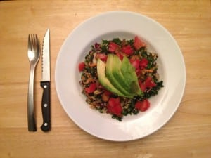 Massaged Kale and Quinoa Salad