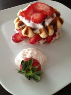 Vegan Strawberry Shortcake Waffles