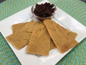 Vegan and Gluten Free Chickpea Breadsticks and Pizza Crust Recipe