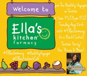 Ella's Kitchen Twitter Party Hosted by The Healthy Voyager Carolyn Scott-Hamilton August 26 2014 11am EST