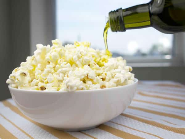 olive oil on movie popcorn