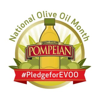 Pompeian pledge national olive oil month