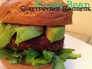 vegan black bean sweetpotato burgers