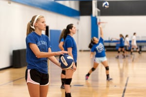 All Saints Volleyball Practice.