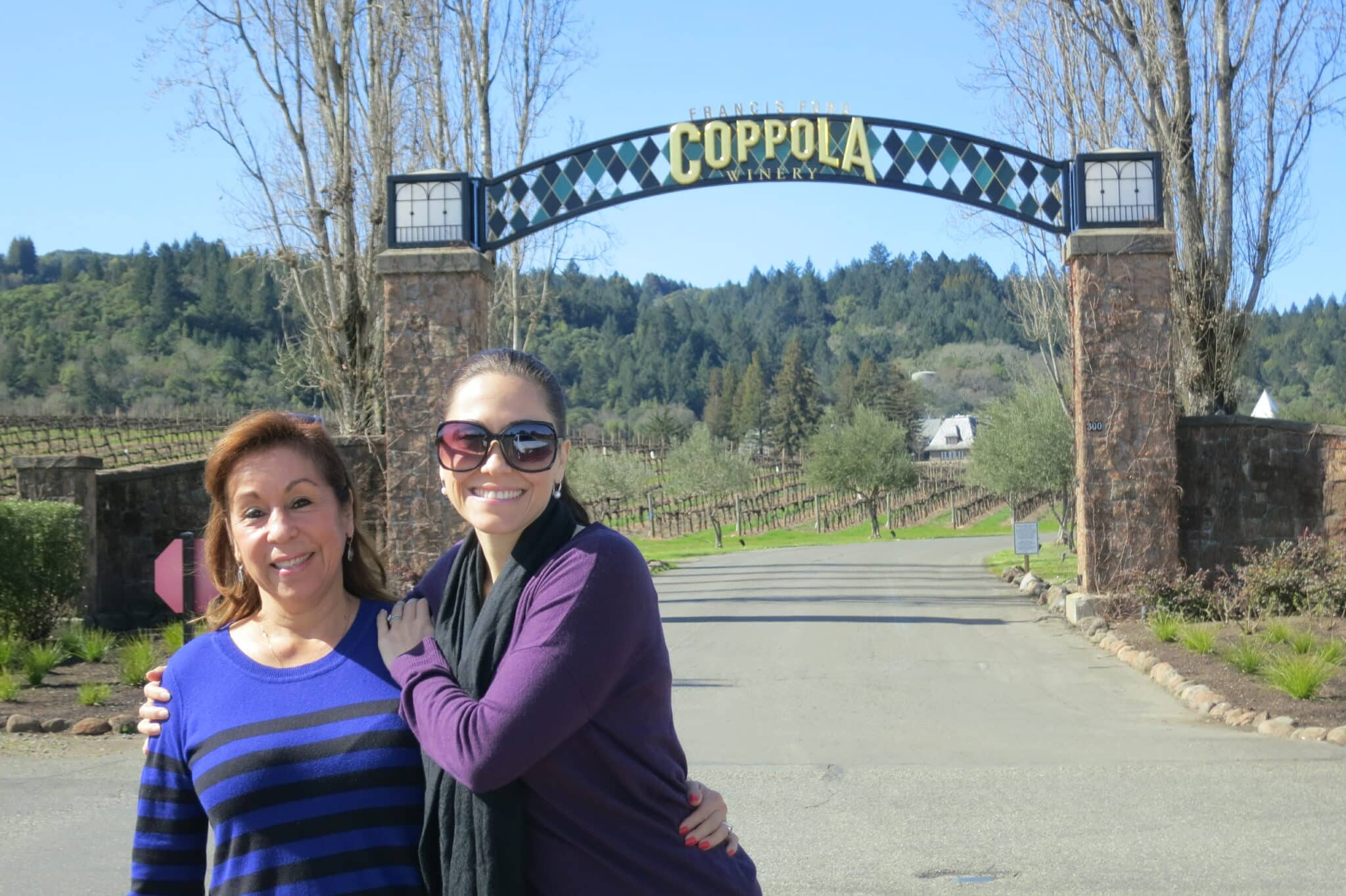 healthy voyager me and my mom at winery