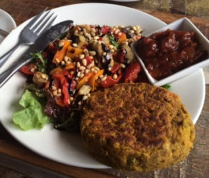 vegan chickpea patty lorne healthy voyager
