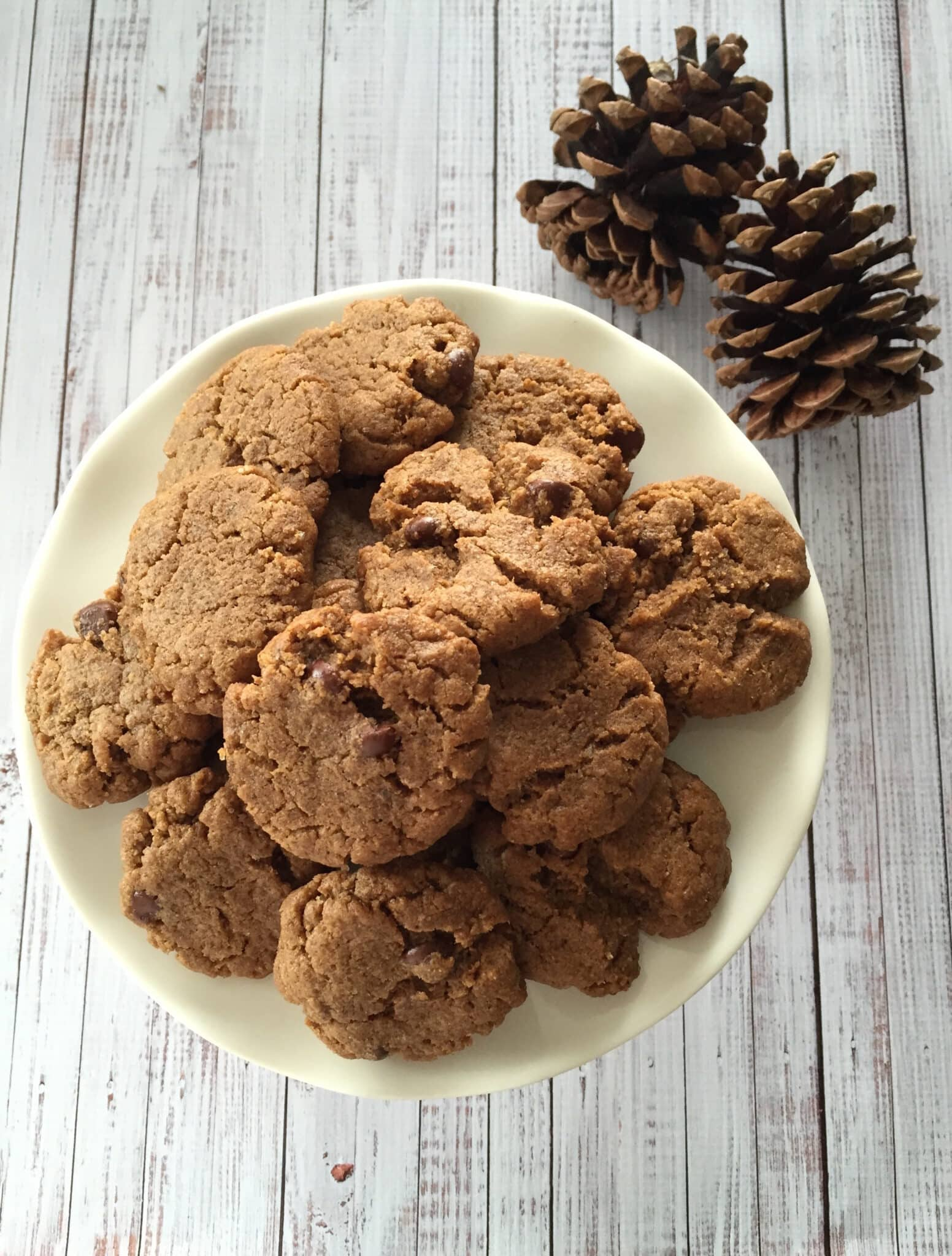 vegan pumpkin spice peanut butter chocolate chip cookies recipe healthy voyager
