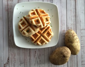 vegan mashed potato waffles recipe