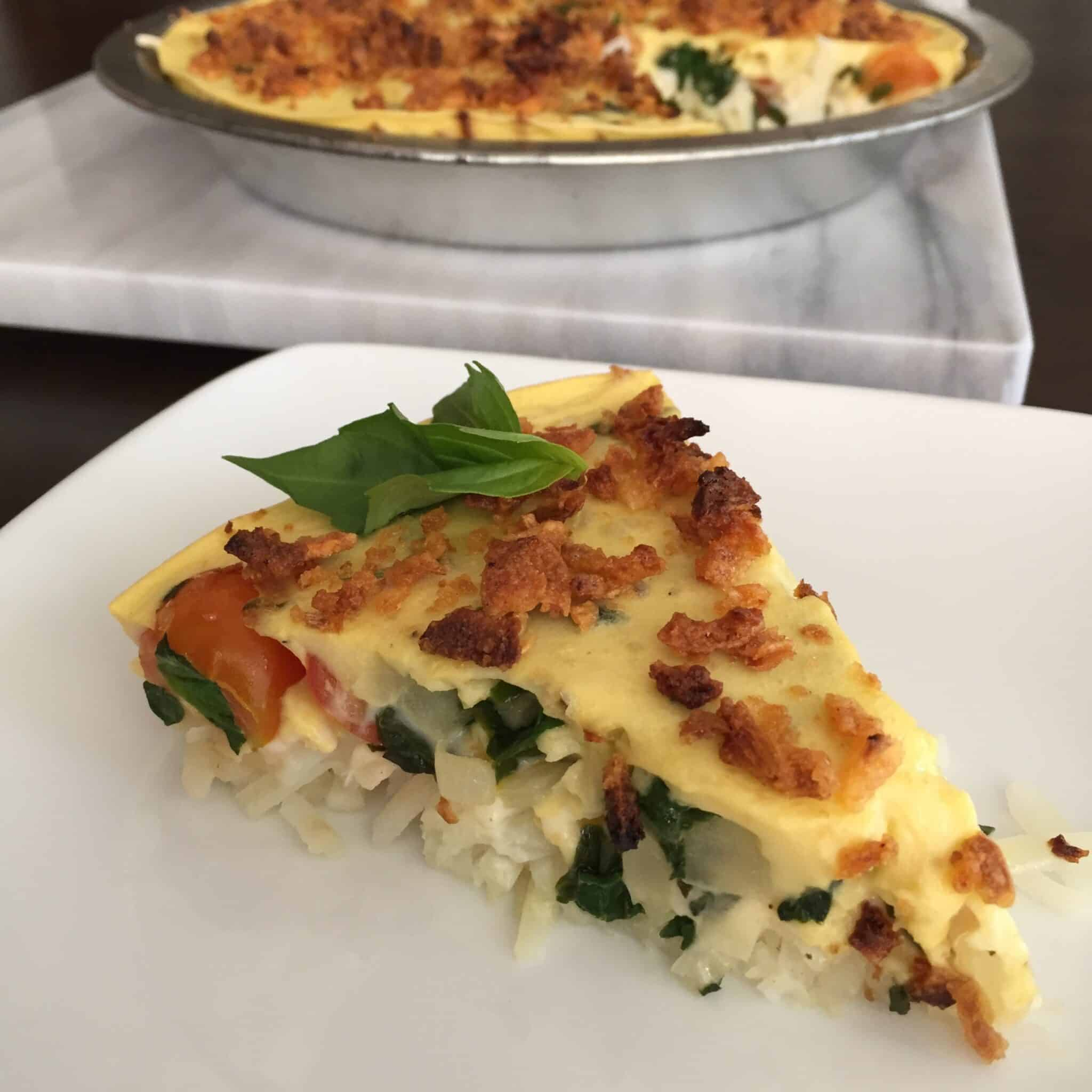 vegan frittata breakfast pie recipe