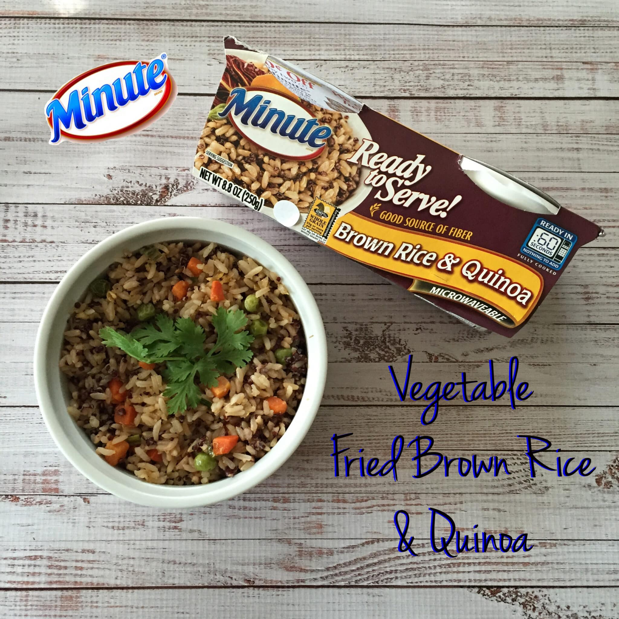 vegan vegetable fried brown rice and qunioa