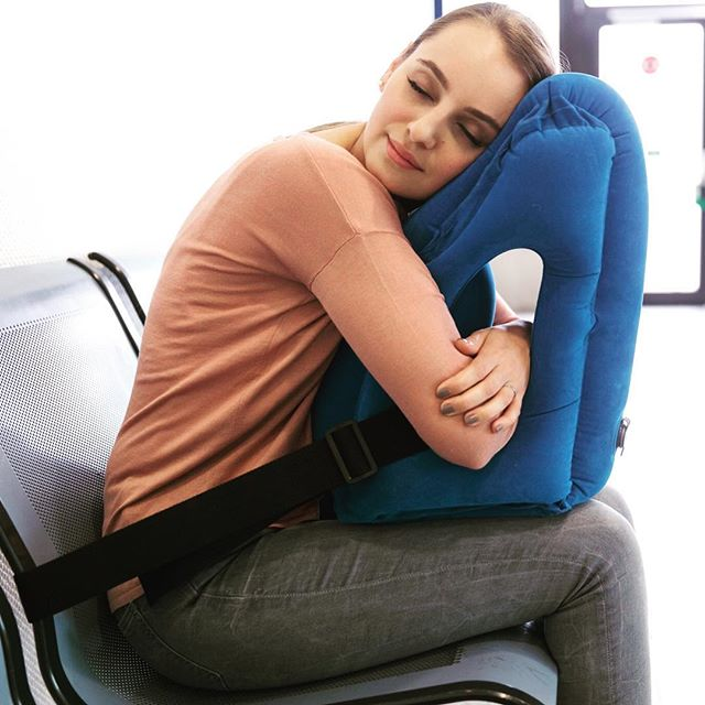 travel pillow that lets you sleep in 4 different positions so you will easily find the position that suits you best