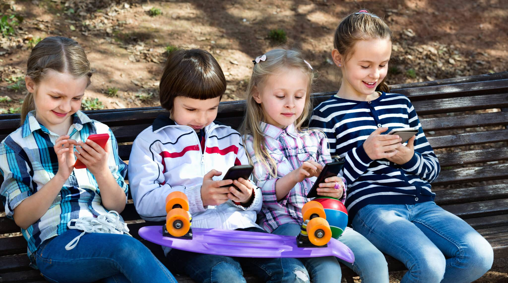children with mobiel devices