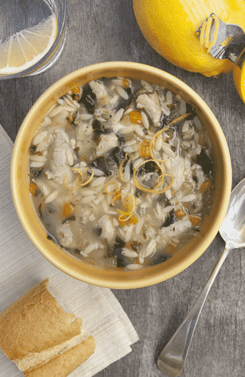 vegan lemon orzo soup recipe