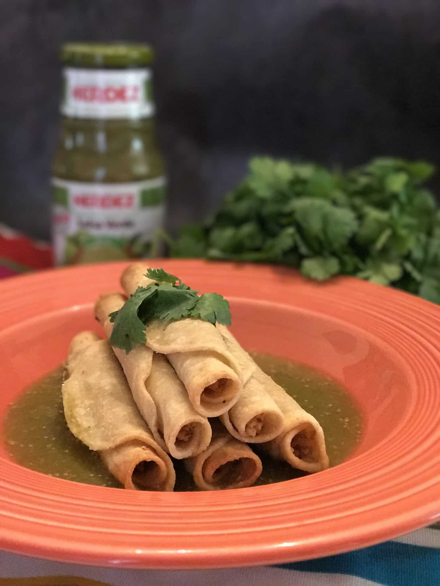 vegan sweet potato taquitos