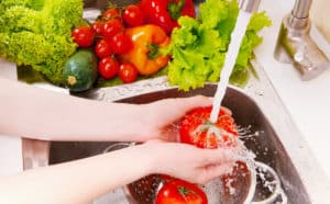 washing fruit and vegetables