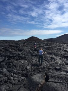 lava hiking galapagos