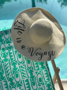 "healthy voyager ""life is a voyage"" sunhat"