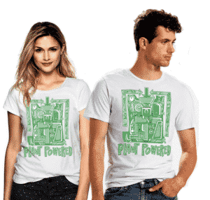 plant powered tshirt healthy voyager