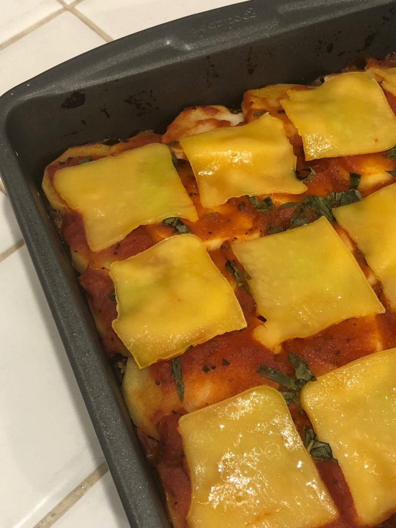 vegan potato lasagna pan