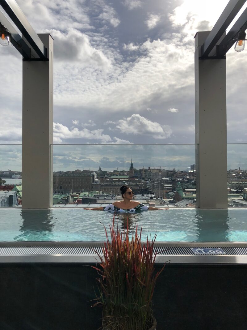 downtown camper rooftop pool stockholm