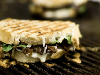 Garlic Mushroom and Balsamic Onion Panini