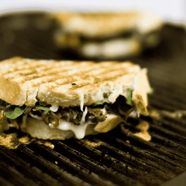 vegan Garlic Mushroom and Balsamic Onion Panini-recipe