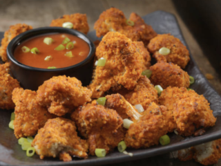 "Spicy Fried ""Chick'n"" Cauliflower"