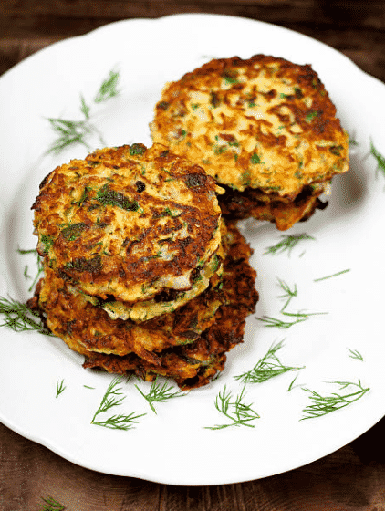 vegan spinach potato fritters recipe