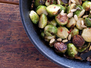 Roasted Brussels Sprouts and Crispy Baked Tofu