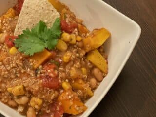 White Bean and Butternut Squash Chilli
