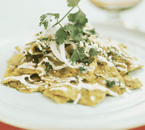 vegan green chilaquiles recipe