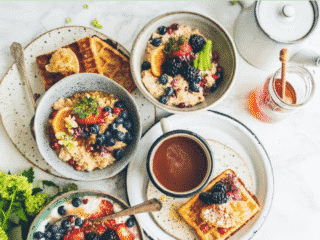 a menu of a wide variety of vegan and gluten free mother's day recipes